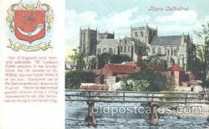 Ripon Cathedral, Coat Of Arms Postcard Post Card 1906
