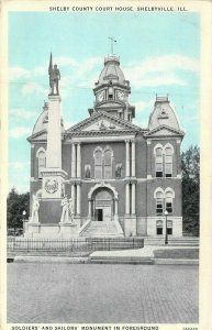 Shelby County Court House, Shelbyville, Ill., Posted 1932