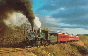 Conway Scenic Railroad Passenger Train With Locomotive #108 Baldwin 2-6-2