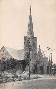 Caledonia MN~Old Stone Construction~St John's Catholic Church~Razed~RPPC c1910