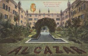 Fountain in the Court of the Alcazar Hotel , St Augustine , Florida, 00-10s