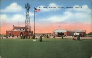 Meridian MS Key Field Airport Linen Postcard