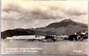 Vintage California RPPC Postcard SAN QUENTIN PRISON w/ Mt. Tamalpais ZAN Photo