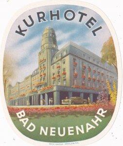 Germany Bad Neuenahr Kurhotel Vintage Luggage Label lbl0209