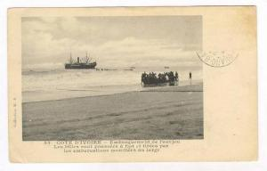 COTE D'IVOIRE - Embarquement de l'acajou, 00-10s