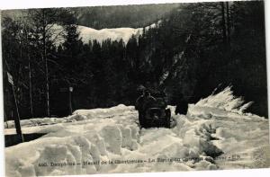 CPA  Dauphiné -Massif de la Chartreuse -La Route du Couvent en hiver   (243971)