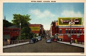 Maine Augusta Water Street Coca Cola Billboard 1949