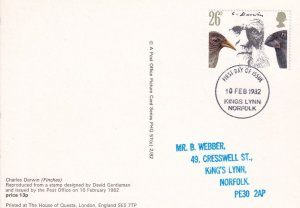 Charles Darwin Finches Finch Bird Rare PHQ First Day Cover Postcard