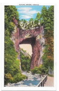 VA Natural Bridge Virginia Vtg E C Kropp Vintage Postcard