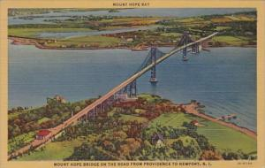 Rhode Island Newport To Providence Mount Hope Bridge 1952