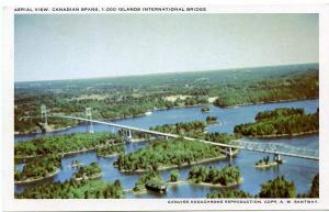 Aerial View Canadian Spans Thousand Islands International Bridge Ontario Canada