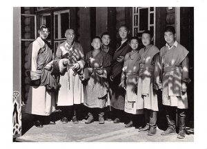 Lama Teacher with Novitiates in Mongolian Buddhist Temple China, People's Rep...