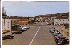 Main Street, Peace River, Alberta, Dated July 1974 on back