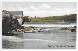 Franklin NH New Hampshire Eastman Falls Dam Leighton Vintage Postcard