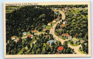 *Residential Section Aerial View Homes in Oak Ridge Tennessee Old Postcard B78