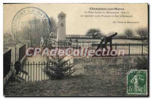 Old Postcard Champigny Sur Marne The Platform Du Monument