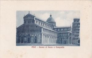 Italy Pisa Duomo di fianco e Campanile