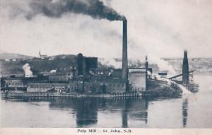 Pulp Mill St John New Brunswick Canada Postcard