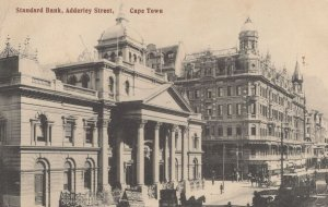 Standard Bank Adderley Street Cape Town Old Postcard