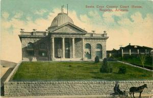 1934 Santa Cruz County Court House Nogales Arizona Postcard International 3399