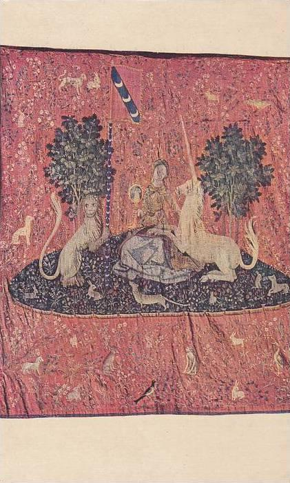 Tapestry, The Lady and the unicorn (Sight) France early XVIth cent, 10-20s
