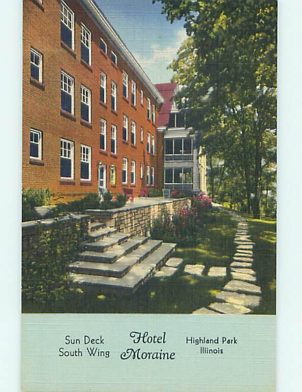 Unused Linen Moraine Hotel Highland Park Illinois Il Q7019