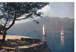 France Aix les Bains Lac du Bourget et Panorama sur la Dent du Chat