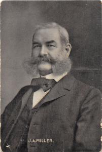 E83/ Wheeling West Virginia Postcard 1908 J.A. Miller Treasurer Political