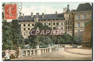 Old Postcard Blois Chateau Facade Francois I