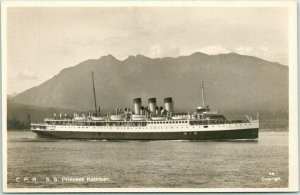 Canadian Pacific Steamship RPPC Photo Postcard S.S. PRINCESS KATHLEEN c1930s