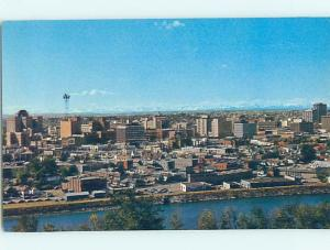 Unused Pre-1980 AERIAL VIEW OF TOWN Calgary Alberta AB F8371-12