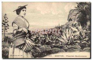Menton - Mentonnaise Florist - Women - Fantasy - Old Postcard