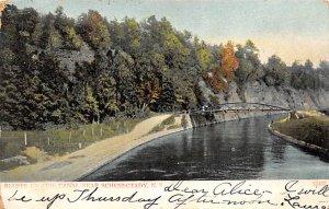 Canals USA Post Card Bluffs on Erie Canal Schenectady, New York, USA 1907
