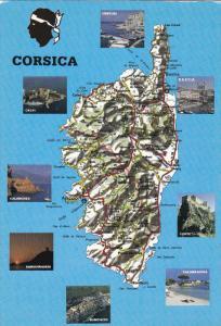 CORSICA, France, PU-1993; Multiple Views, Centuri, Calvi, Calanches, Sanguina...