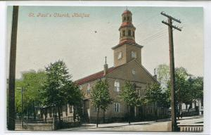 St Paul's Church Halifax Nova Scotia Canada 1907c postcard