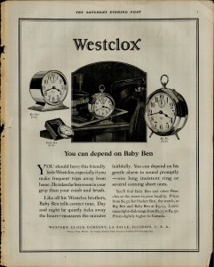 1927 Westclox You Can Depend on Baby Ben $3.25 Vintage Print Ad 3868