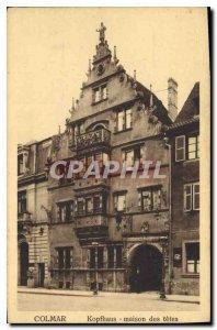 Old Postcard Colmar Kopfhaus heads home