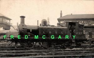 1920 London Brighton & South Coast Railway RPPC: Steam Locomotive 237