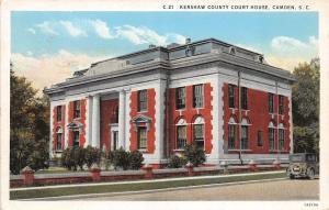 B51/ Camden South Carolina SC Postcard c1930 Kershaw County Court House