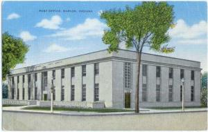 Linen of Post Office in Marion Indiana IN