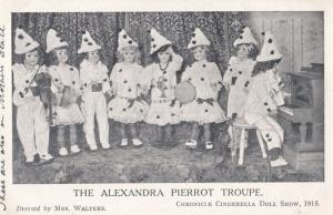 Manchester Alexandra Clown Pierot Troupe Cinderella 1915 War Antique Postcard