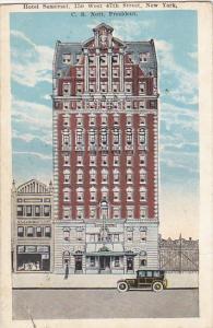 Hotel Somerset New York City 1926