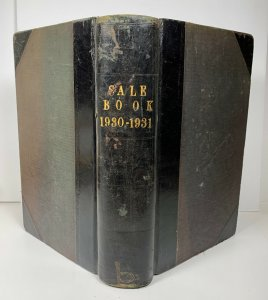 Sale Book Ledger 1930 1931 Grain Wholesaler Possibly From UK