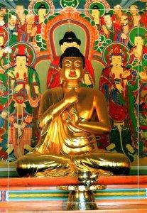 South Korea Kyeongju Gilt-Bronze Of Stated Vairocana Buddha