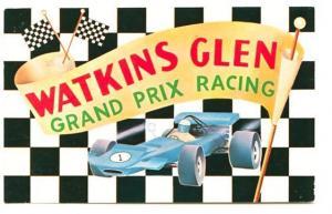 Watkins Glen Grand Prix Racing Famous Paved Track Postcard