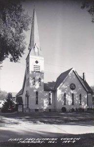 Illinois Fairbury First Presbyterian Church Real Photo RPPC