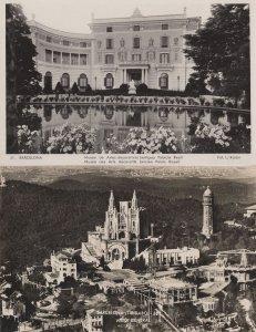 Barcelona Museo De Artes 2x Old Real Photo Spain Postcard s
