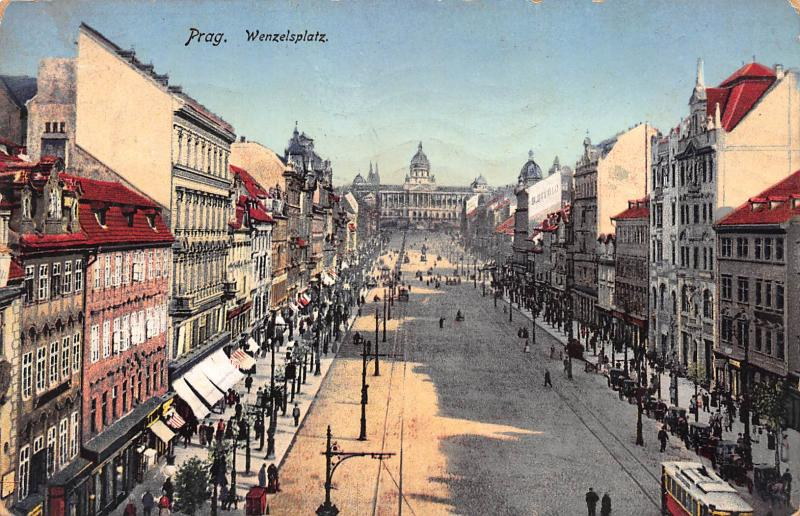 Prague, Austria-Hungary, 1917 postcard, used, Sent from Prague to Vienna