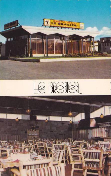 2-views,  Restaurant Le Brasier,  Enr. Rimouski,  Quebec,  Canada,  40-60s