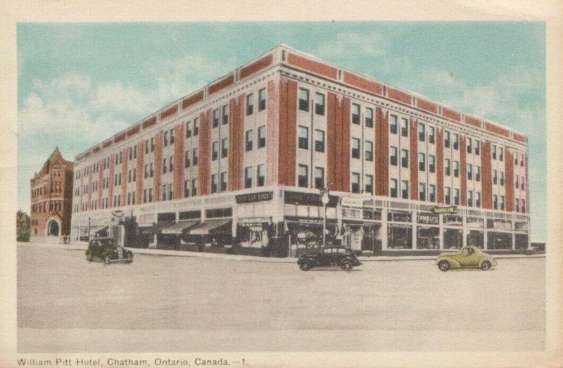 CHATHAM , Ontario , Canada , 1930s ; William Pitt Hotel